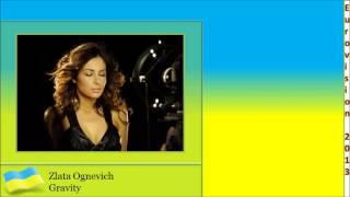 Eurovision 2013 Ukraine - Zlata Ognevich - Gravity (Lyrics)