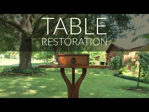 Antique Smoking Table Restoration In 2 Minutes