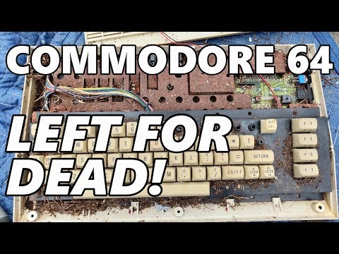 Commodore 64 left outside for over a decade! Could it still work??