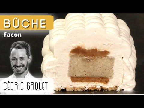 bÛche-vanille-caramel-faÇon-cÉdric-grolet-🤩-(certainement-la-bûche-de-l'année-2020...)