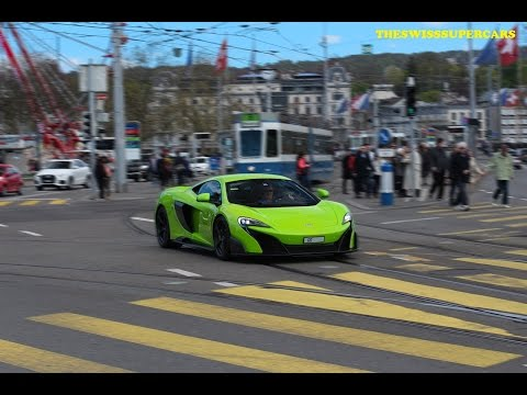 Supercars in Zurich March 2016 - 675 LT, 458 Speciale....