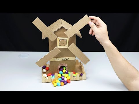 Wow! Amazing DIY Candy Wind Mill House Machine