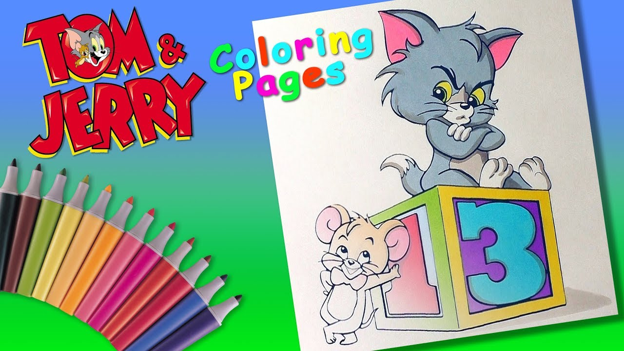 Baby Tom and Jerry Coloring Pages #ForKids #LearnColors ...