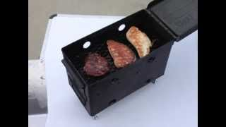 .50 Caliber BBQ Grill - Tabletop for Patio Parties, Tailgating, Camping, & Survival
