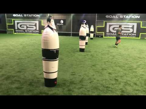 Individual session with professional football centre forward