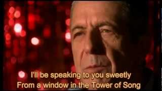 Leonard Cohen & U2 -Tower of Song with Lyrics