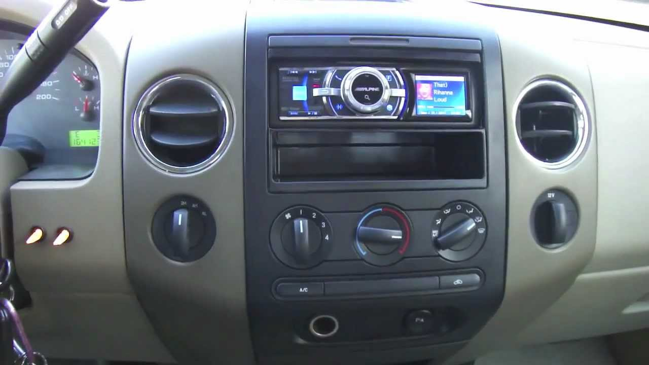 maxresdefault diy car stereo install in a 2006 f150 youtube 2005 ford f150 radio wiring harness at crackthecode.co