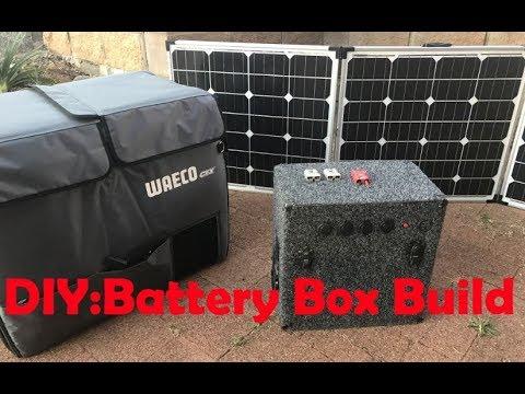 diy: build a super easy battery box and solar setup for camping / vans /  caravans