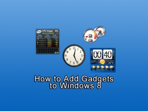 How to Add Gadgets to Windows 8