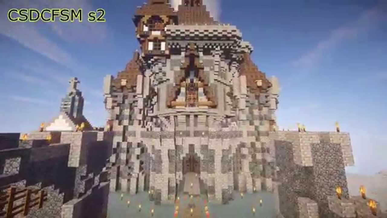construction d 39 un chateau fort sur minecraft saison 2 06 youtube hd youtube. Black Bedroom Furniture Sets. Home Design Ideas