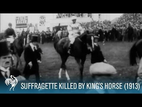 Emily Davison: Suffragette Killed by King's Horse at Derby (1913) | British Pathé