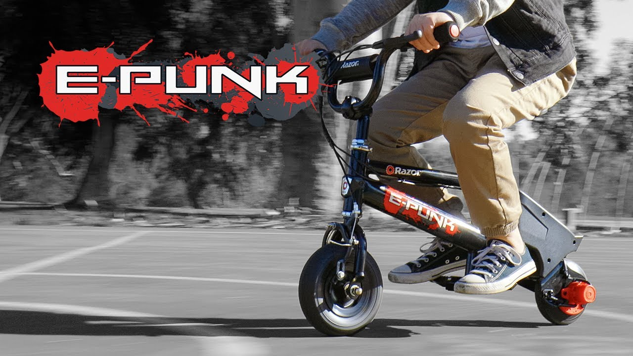 Razor E-Punk Electric Minibike Ride Video with Features