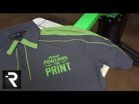 c7b9d425a How To Screen Print on Ink-Thirsty Performance Polo Shirts - YouTube