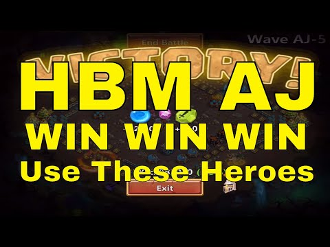 Castle Clash HBM AJ Wins Recommended Hero Teams