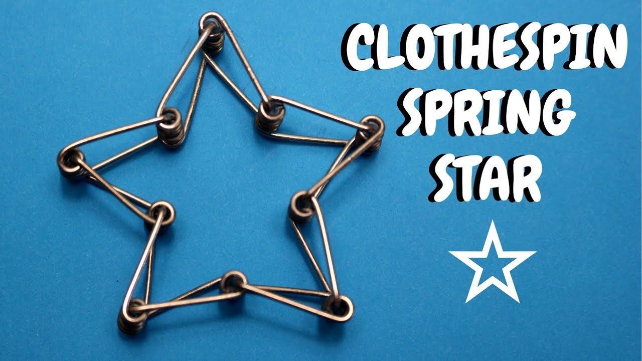 clothespin spring star christmas ideas clothespin crafts youtube