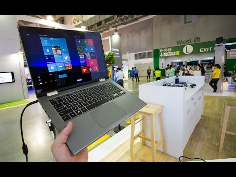Dell Inspiron 13 5000 2-in-1 Hands On at Computex 2016 (English)