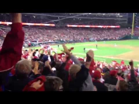 Jayson Werth's walk off home run LIVE from Nationals Park 10/11/2012