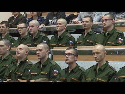 В Мордовии прошла отправка призывников в научную роту