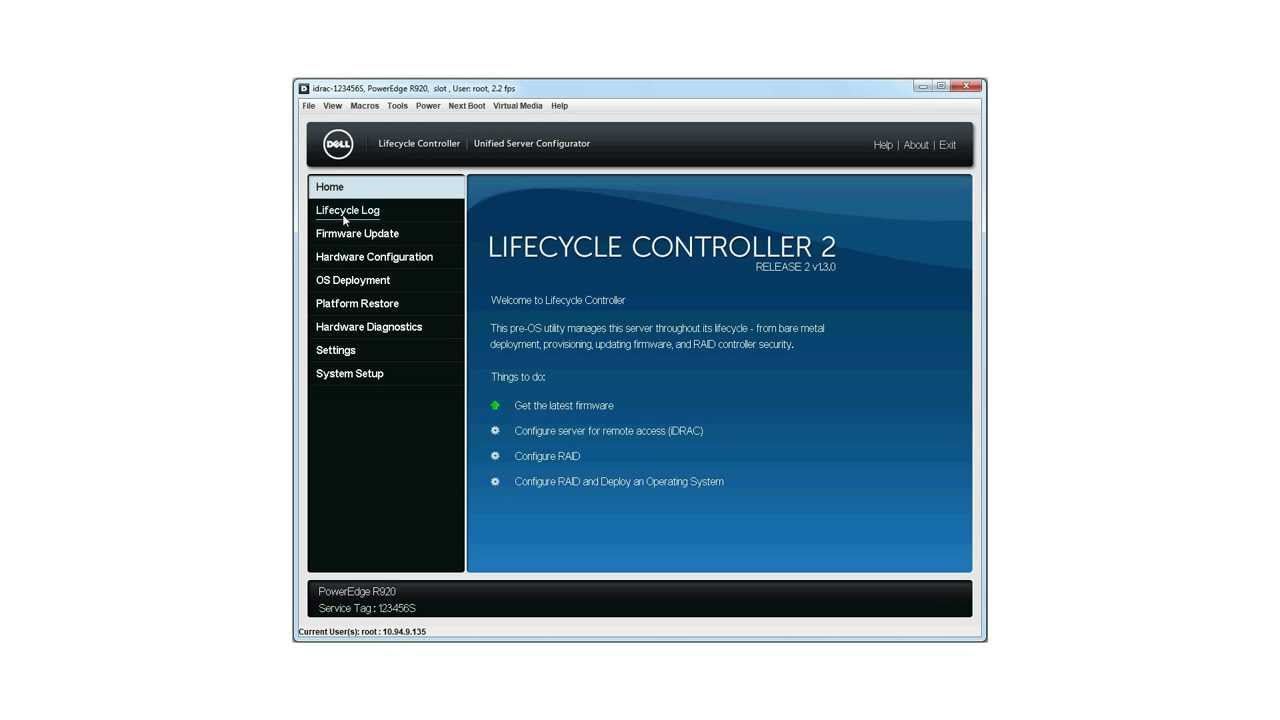 Dell Lifecycle Controller  Firmware Update Using Local