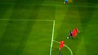 FIFA 12 - Carroll stumbles like an idiot