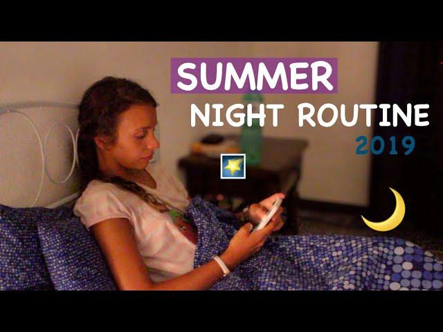 SUMMER NIGHT ROUTINE || Iris Ferrari