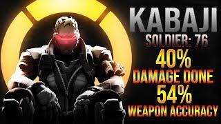 Kabaji - Soldier: 76 Gameplay - 40% Damage Done 54% Weapon Accuracy