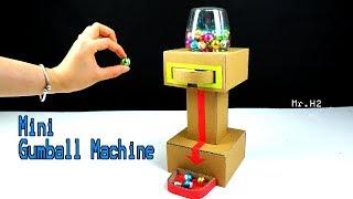 How to make Mini Chocolate Gunball Machine - Diy Candy Dispenser from Cardboard