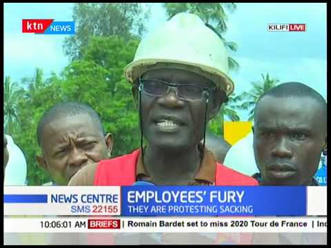 Athi River Mining workers protest sacking