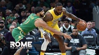 Celtics Dominate The Lakers 139-107  | The Jim Rome Show