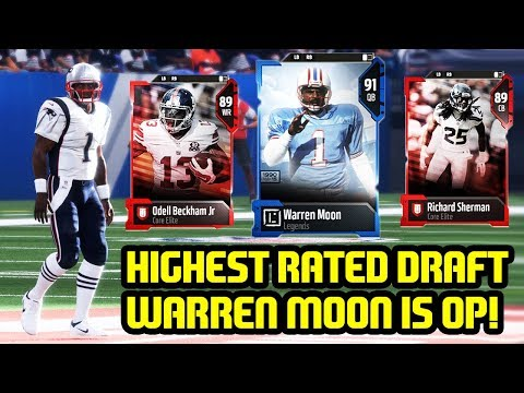 HIGHEST RATED DRAFT! WARREN MOON! MADDEN 18 DRAFT CHAMPIONS ULTIMATE TEAM
