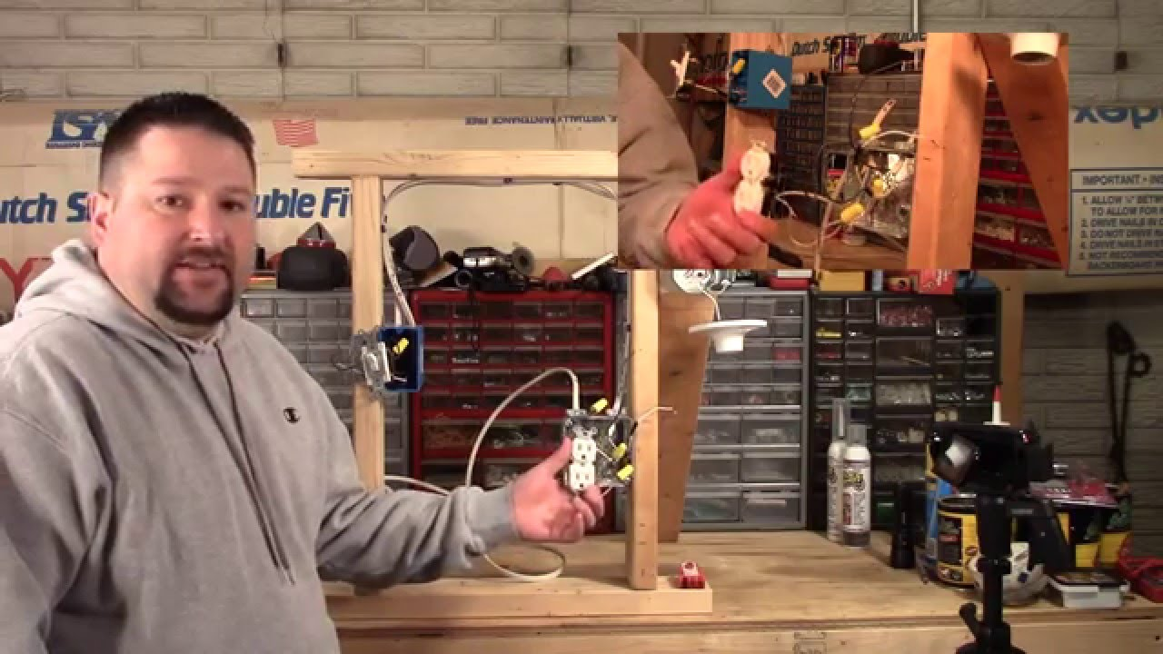 How To Wire A Switched Outlet With Close Ups Of Wiring Youtube Receptacle