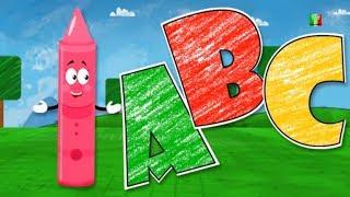 abc canzone | rime prescolari | impara alfabeti | colori per bambini | Kids ABC | Crayons ABC Song