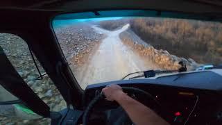 Опасная А-360 | Порезали колёса | Дальнобой по Якутии | Страшная красота природы