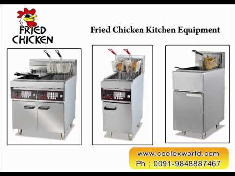What are the equipment used for fried chicken restaurant for V kitchen philippines