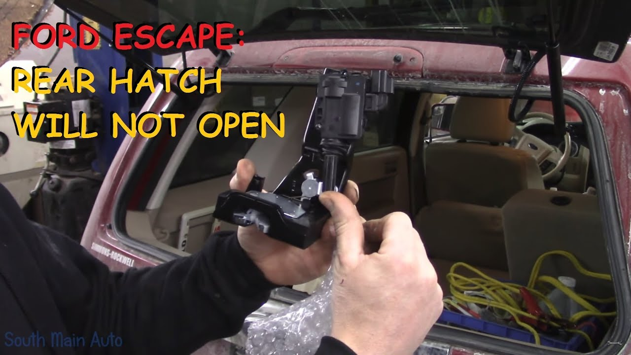 Ford Escape Rear Hatch Latch Repair Youtube 2009 Lift Gate Wiring