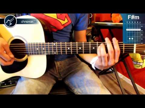"""Cómo tocar """"Don't Let Me Down"""" de The Beatles en Guitarra (HD) Tutorial - Christianvib"""