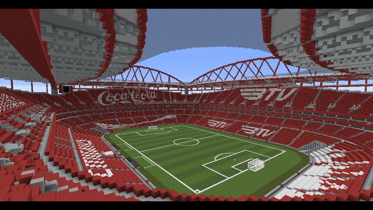 mapa estadio da luz Estádio da Luz   S.L. Benfica   Minecraft + DOWNLOAD   YouTube mapa estadio da luz