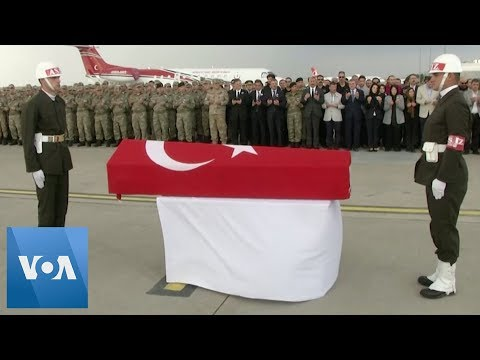 Funeral Ceremony Held For Turkish Soldier Killed In Syria