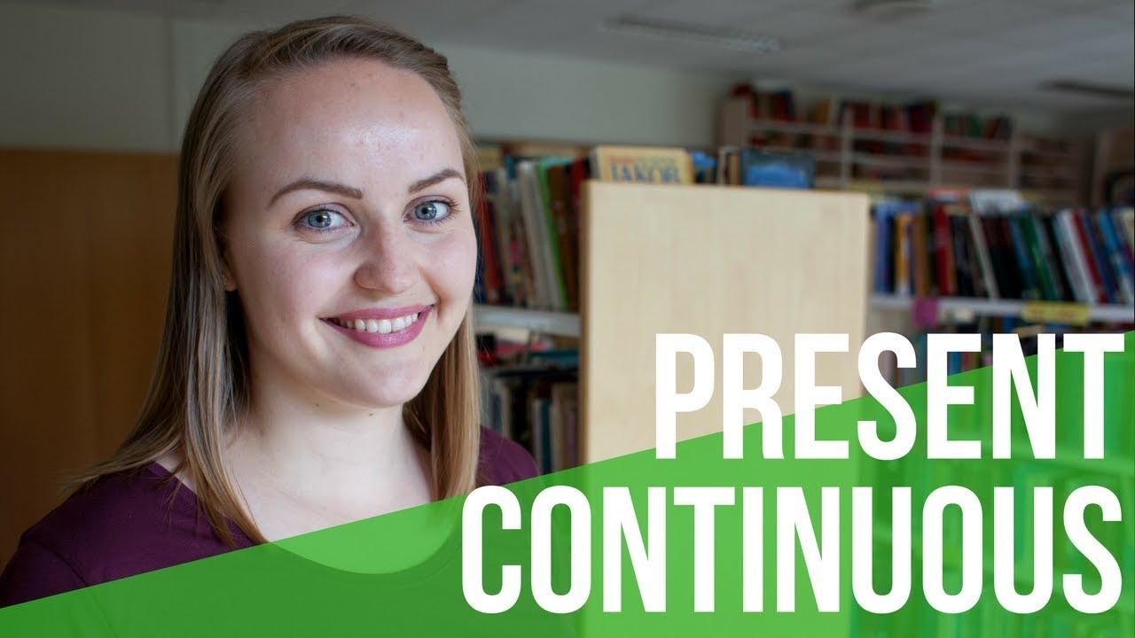 The present continuous tense | Verb i nåtid