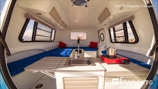 Happier camper | A retro trailer with modern interior design and ground-breaking flexibility