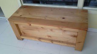 Outdoor bench + garden storage