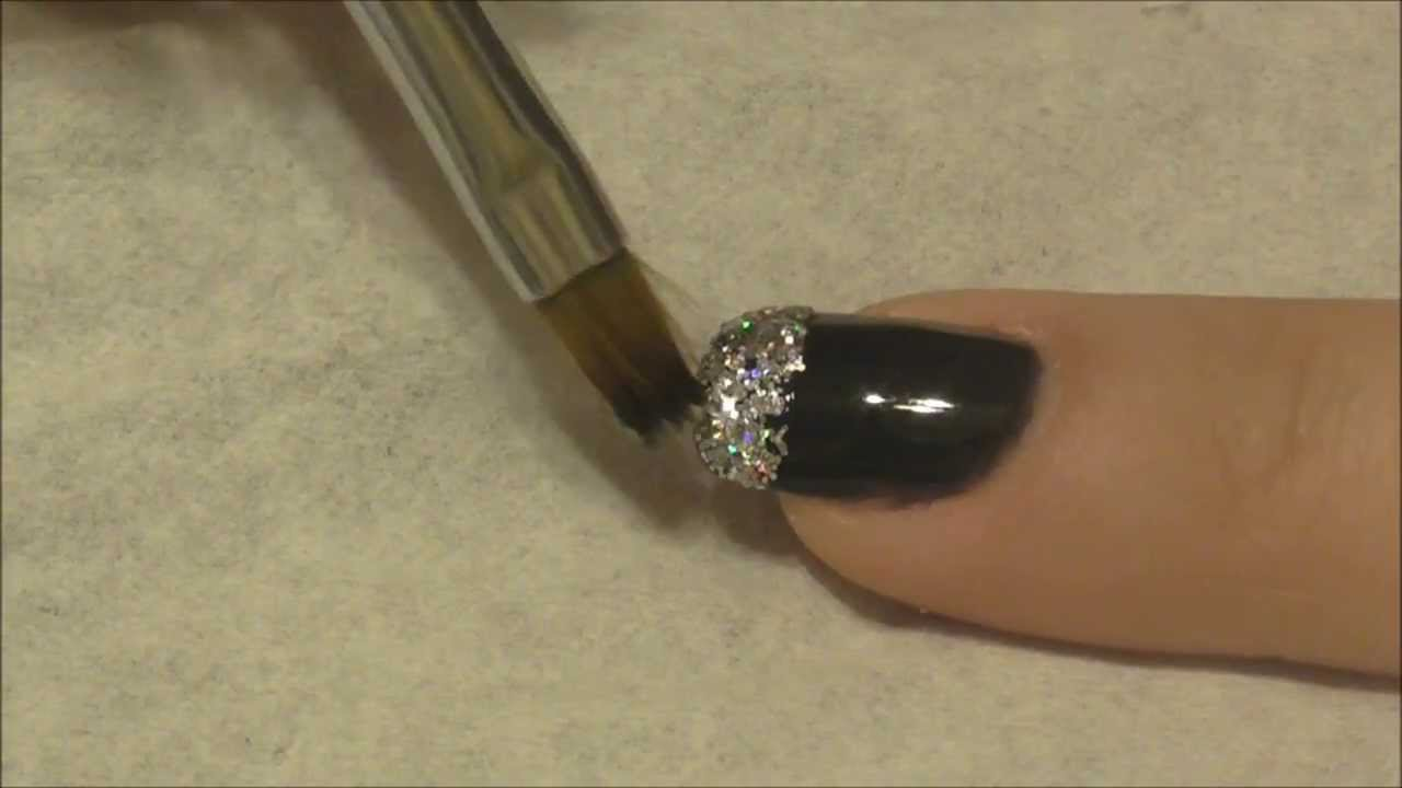 Ibn Gel Polish Glitter Fade From Tip Tutorial Youtube
