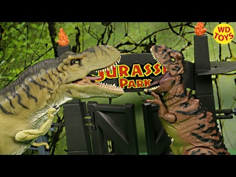 New Jurassic Park Bone Breaker Carnotaurus Vs Tyrannosaurus Rex TRex  Unboxing W Spinosaurus