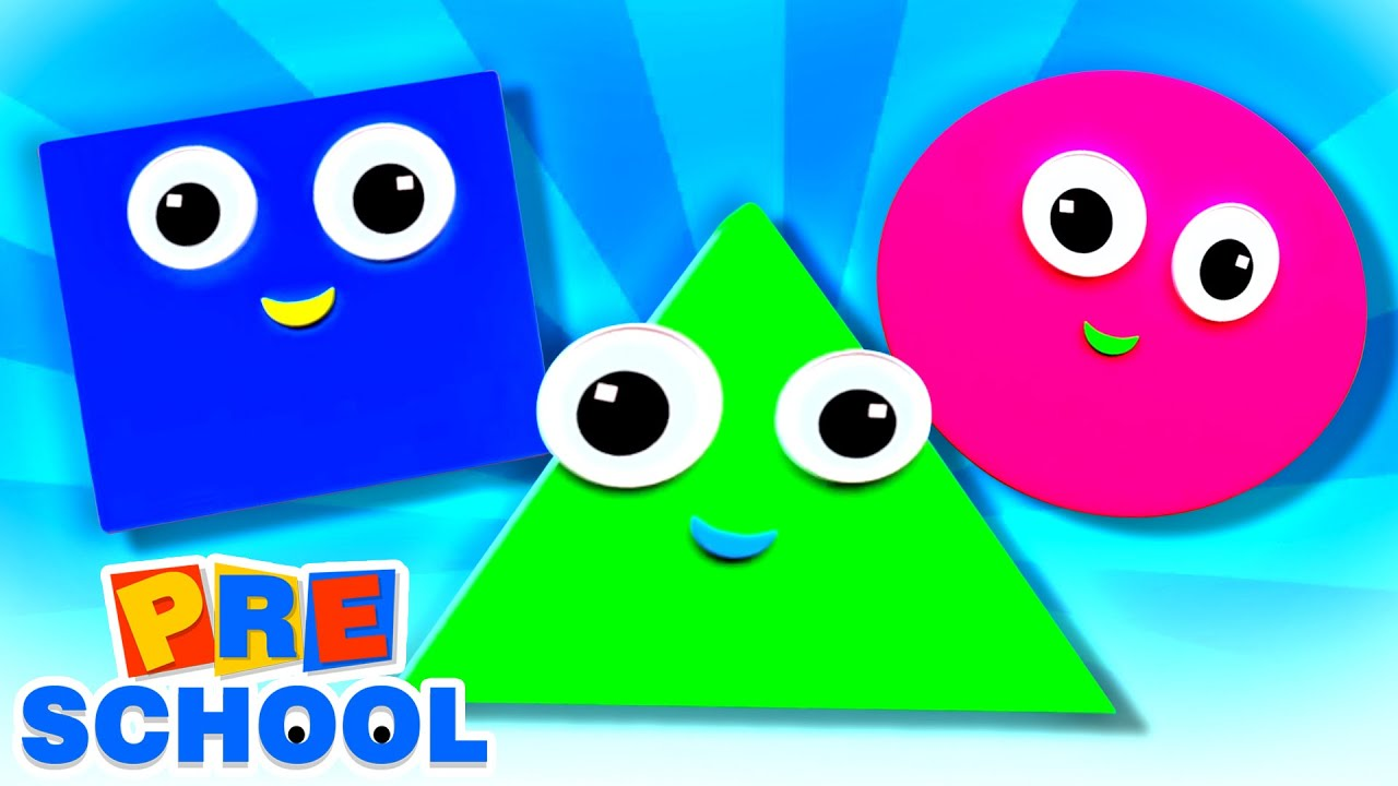 Shapes Song | Learn Shapes | Preschool Videos For Children | Nursery Rhymes & Kids Songs