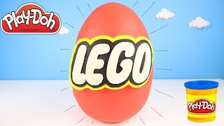 Lego GIANT Surprise Play Doh Egg - Paw Patrol Rubble Opening Trolls Blind Bags | Ellie Sparkles