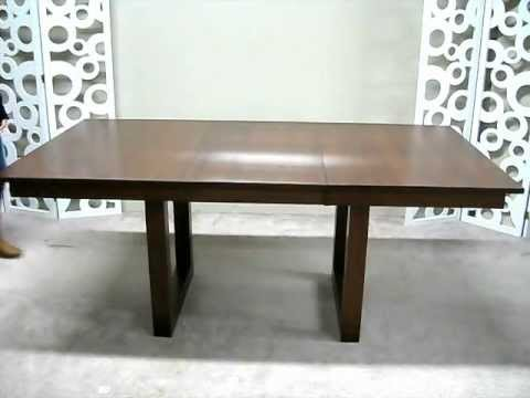 Solid Wood Dining Table With Self Storing Leaf Youtube