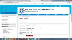 Car Insurance Renewal Premium Calculator, new India Assurance