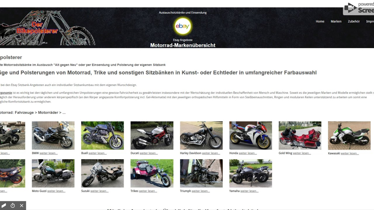 Motorradsitzbänke vom Bikepolsterer - Motorräder Angebote - YouTube