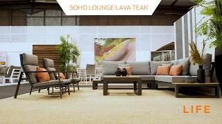 LIFE Outdoor Living - Soho lounge lava - teak