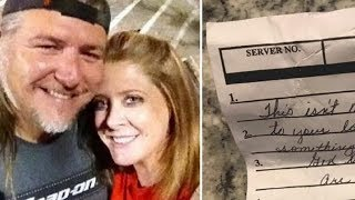 Waitress Slips Note On Couple Way Out - Read Words And Realize They Need To Act Immediately